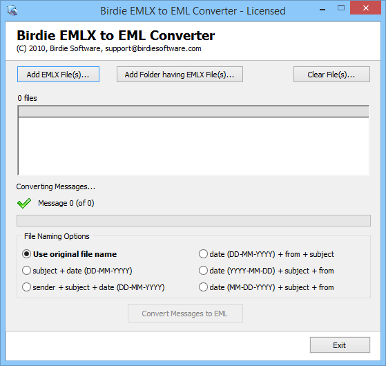 Batch Conversion of EMLX to EML format