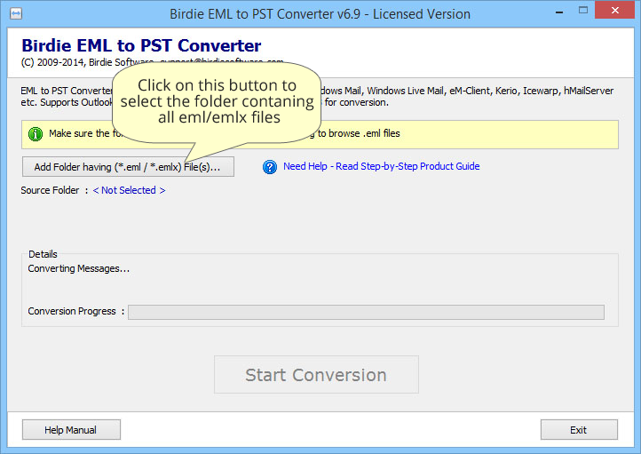Quick to work EMLX Files to PST Converter