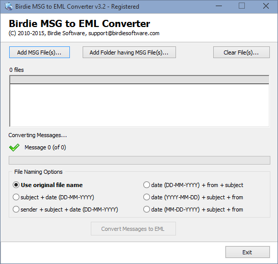 Convert MSG to EML quickly