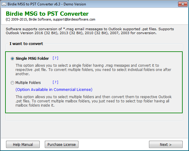Convert MSG to PST easily