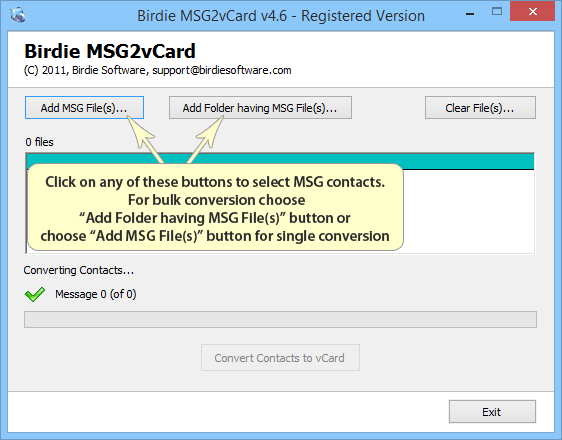 Convert Outlook MSG messages to VCF