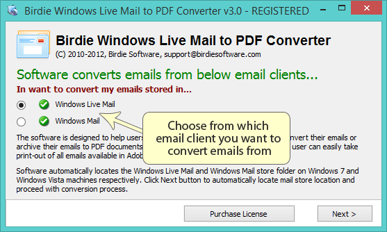 Best Windows Live Mail to PDF Converter